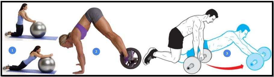 Exercise Roller for a Press Variation